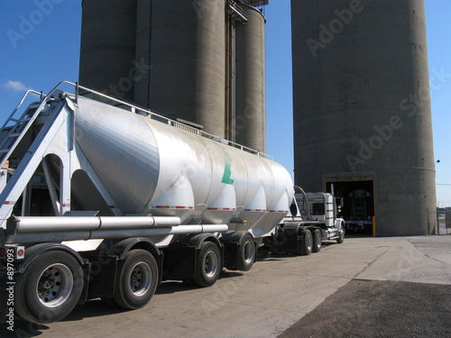 Cement Loading Plant : Quot truck loading at ready mix cement plant stock photo and