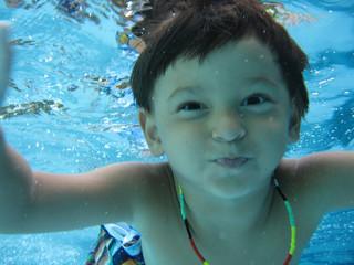 boy swimming