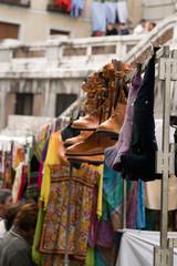 rastro, open market in madrid