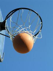 basketball though hoop