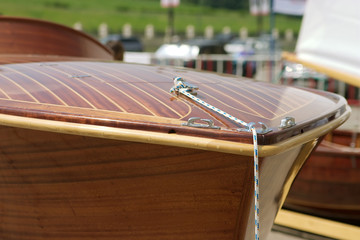 wood boat detail