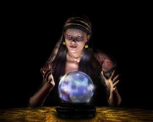 fortune teller - on black