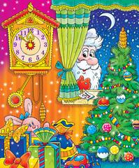 santa claus in christmas night