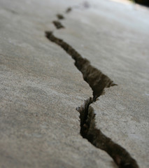 crack in foundation