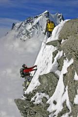 Poster de jardin Alpinisme assaut final