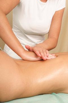 female back  massage - vertical