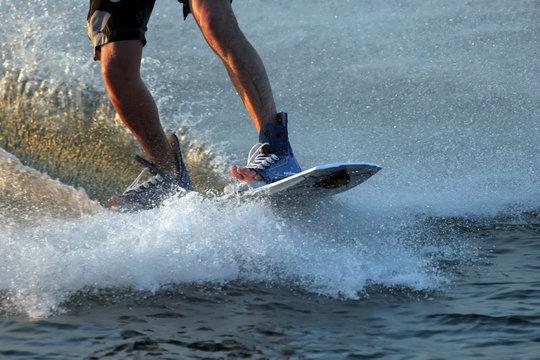 water ski boarders feet