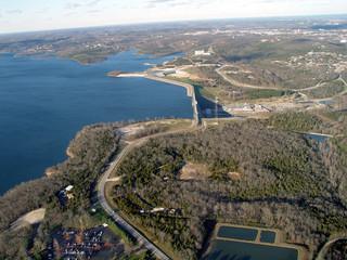 table rock lake dam- aerial