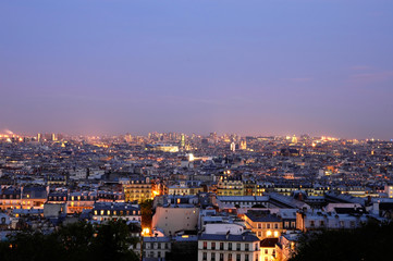 dusk over paris - wide panoramics