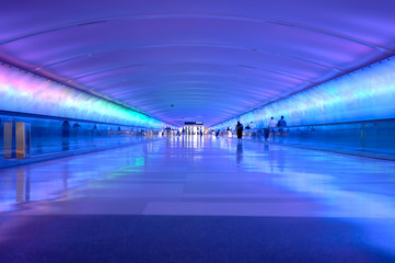 airport tunnel glow