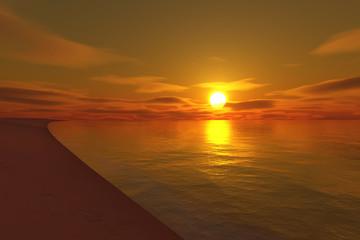 endless beach sunset