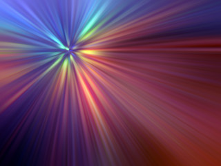 multicolored light rays