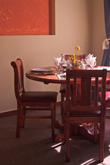 restaurant table portrait