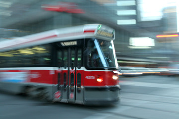 Wall Murals Toronto moving streetcar