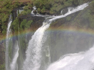 Printed kitchen splashbacks River rainbow over iguazu