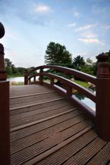 bridge in chicago's - japanese gardens