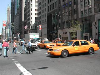 Foto auf AluDibond New York TAXI yellow cab