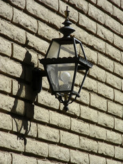 lamp on brick