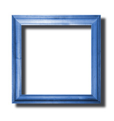 blue wooden frame