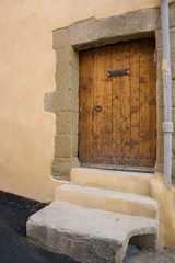 large wooden door