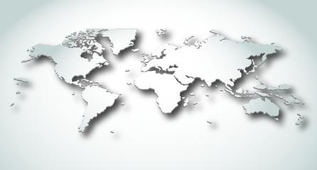Aluminium Prints World Map earth map