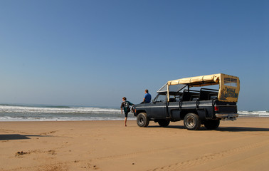 landcruiser on the beach