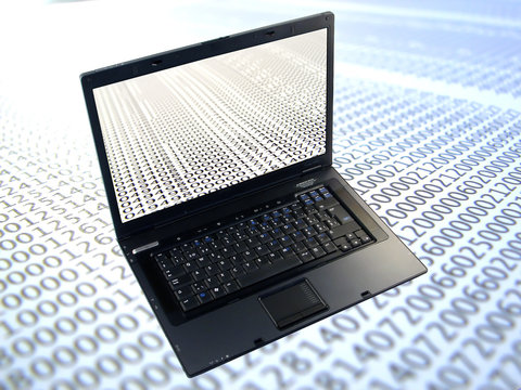 database records and laptop