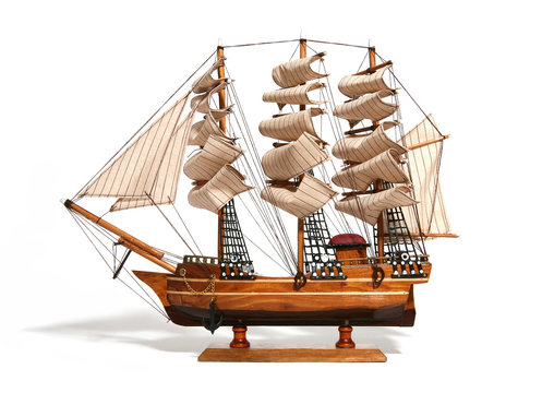 model of a historic ship