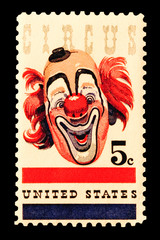 stamp - circus clown