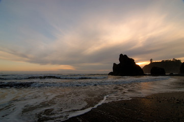 Canvas Prints Cuban Red sunset at ruby beach