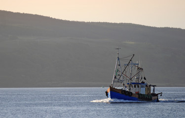 fishingboat at sound of mull