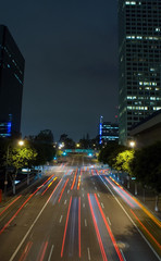 downtown la- tail lights