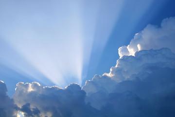 Door stickers Heaven sun rays