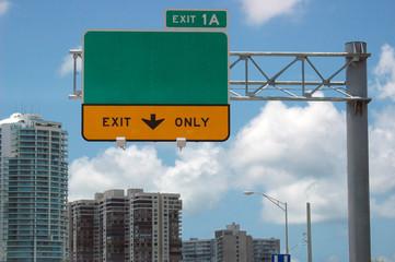 highway sign