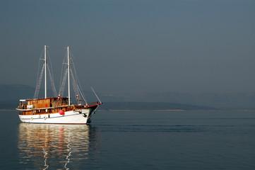 sailboat in sun