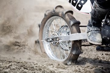 Poster Motorise dirtbike wheel