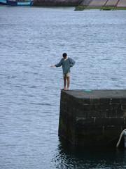 man hand fishing