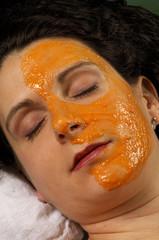 spa organic facial masque carrot and pumpkin