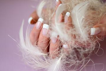 woman's hand. nail enamel.