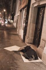 parisian night, poverty