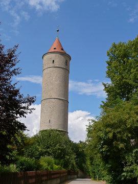 watchtower in dinkelsbuehl, bavaria