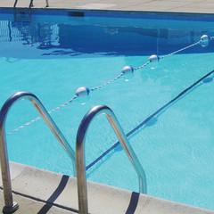 bright blue pool