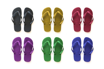 collection of beach sandals