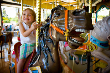 girl on a carousel