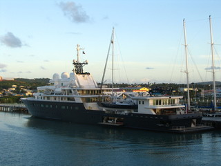 ship on caribbean