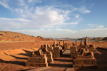 allée de sphinx - temple d'harmakis