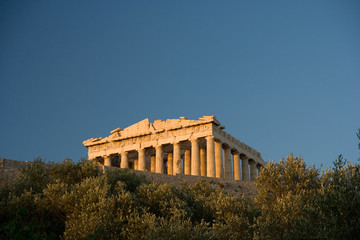 the acropolis of athens from below