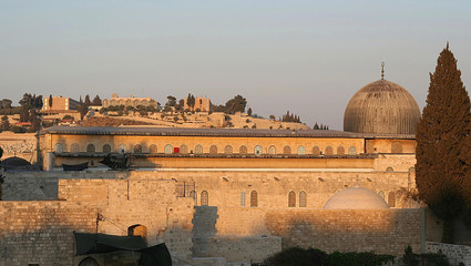 al-aqsa mosque on the temple mount, jerusalem.