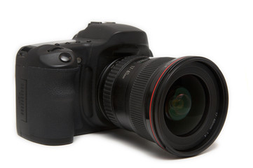 isolated camera with lens