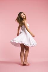 pretty girl skipping